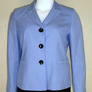 Le Suit NWT French Blue Jacket Blazer Pantsuit